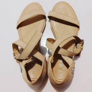 RALPH LAUREN | Criss Cross Sandals Size 5.5 Cream